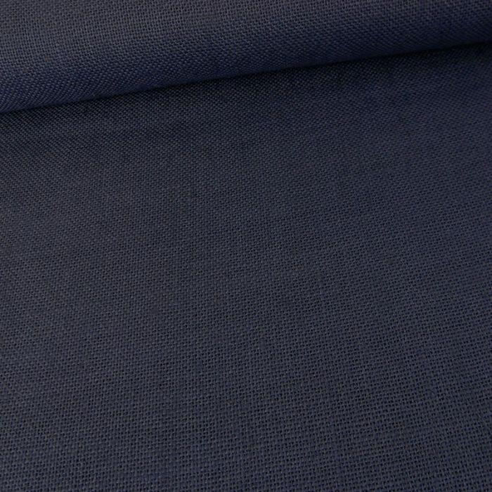 Tissu toile de jute - marine x 10 cm