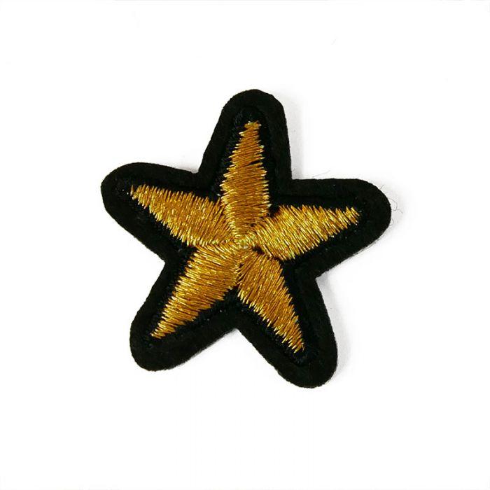 Ecusson thermocollant petite étoile dorée