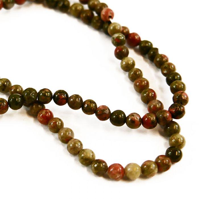 Perle jaspe 4 à 10 mm x1