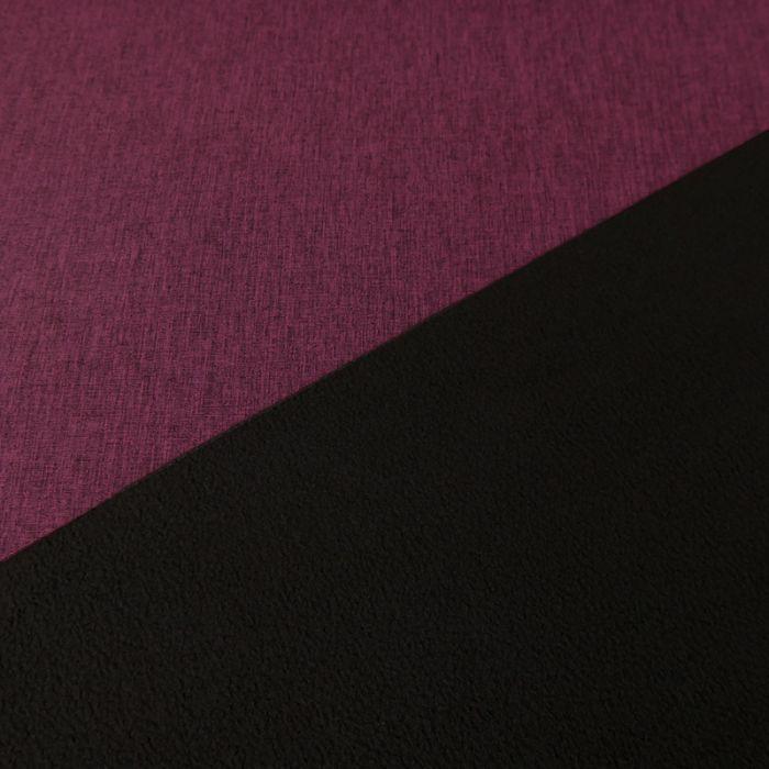 Tissu softshell déperlant chiné - prune x 10 cm