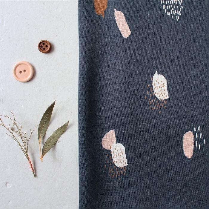 Tissu Moonstone blue - Atelier Brunette x 10 cm