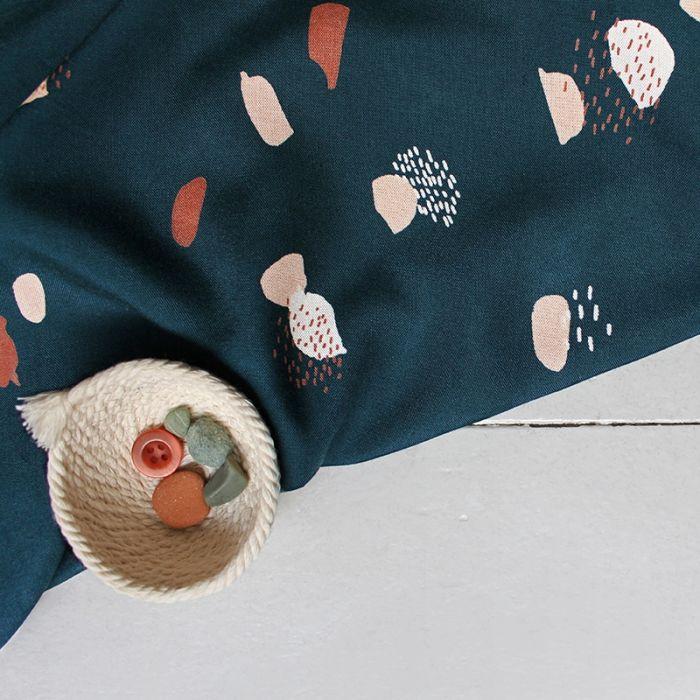 Tissu Moonstone green - Atelier Brunette x 10 cm