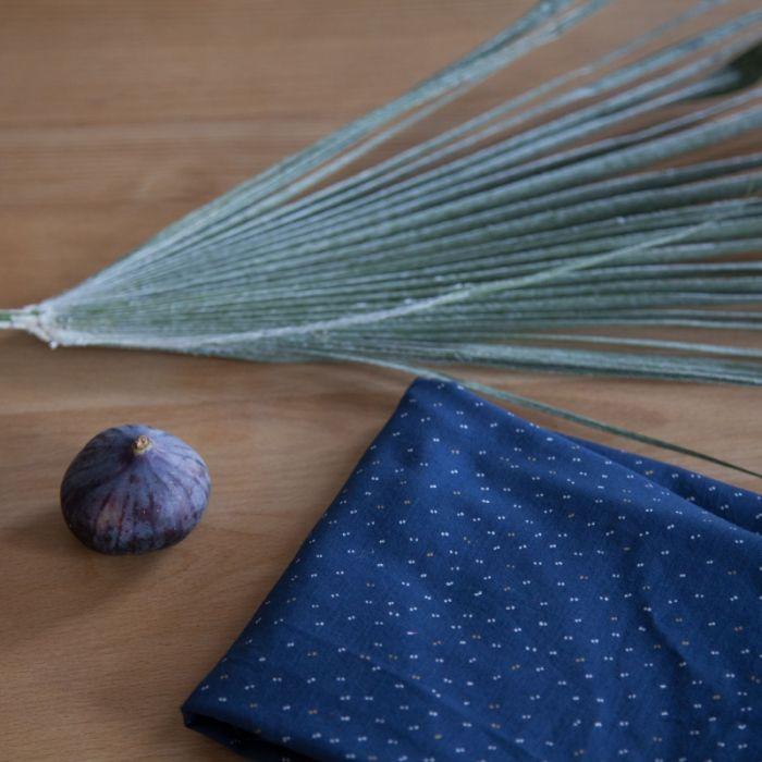 Tissu Sparkle Midnight blue - Atelier Brunette x 10 cm