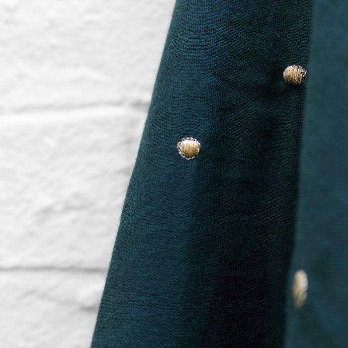 Tissu double gaze Stardust forest - Atelier Brunette x 10 cm