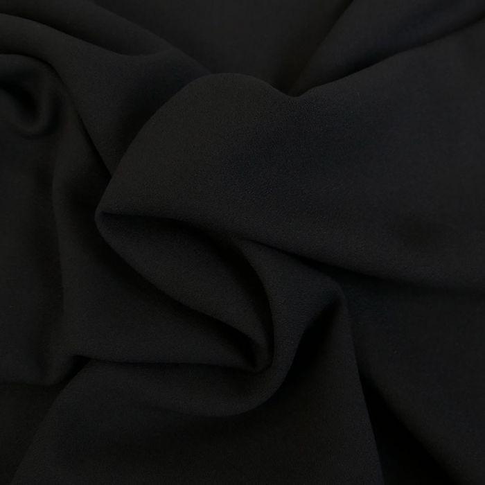 Tissu Crêpe viscose haute couture - noir x 10 cm