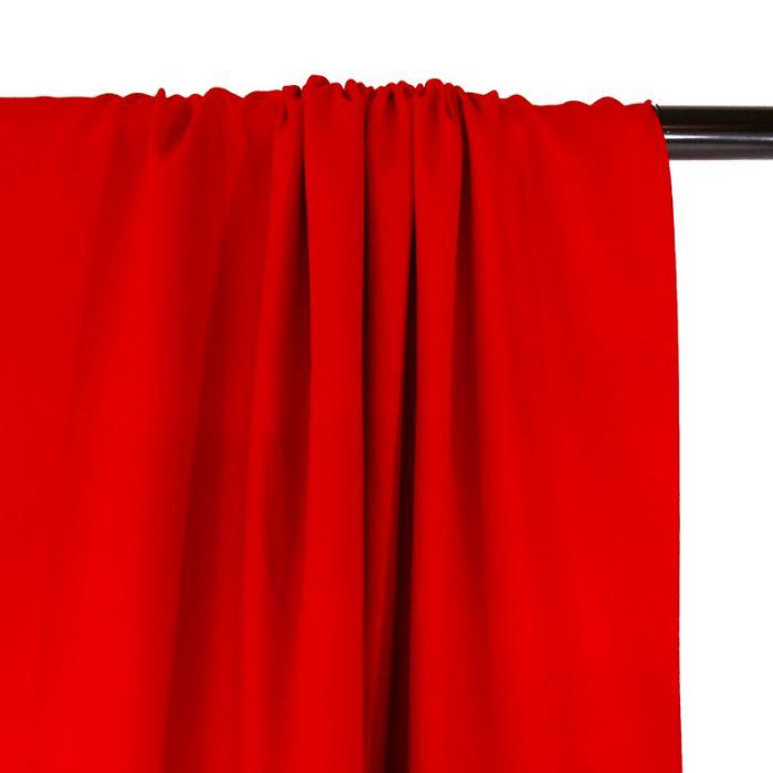 Tissu Crêpe viscose haute couture - rouge x 10 cm