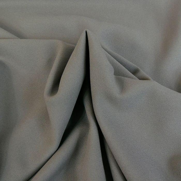 Tissu Crêpe viscose haute couture - gris x 10 cm