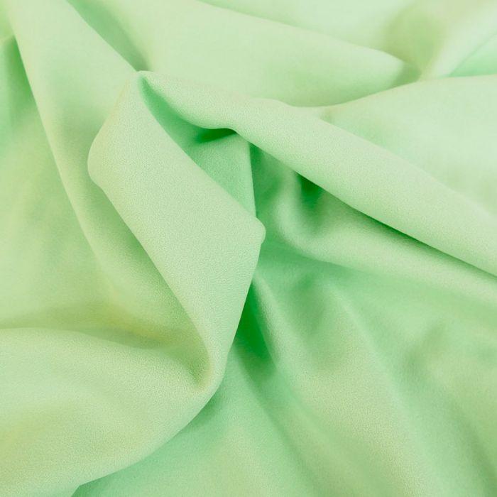 Tissu Crêpe viscose haute couture - vert d'eau x 10 cm