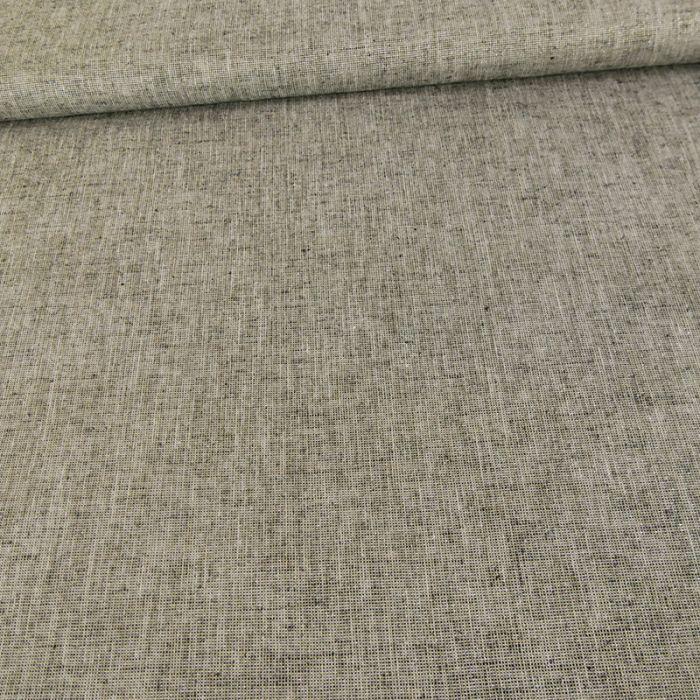 Tissu lin lurex or - gris x 10 cm