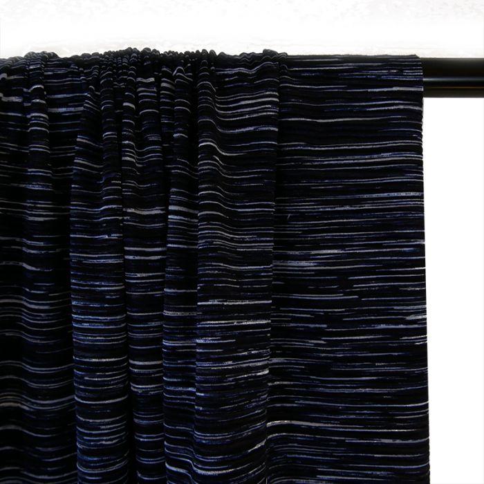 Tissu plissé - bleu x 10 cm