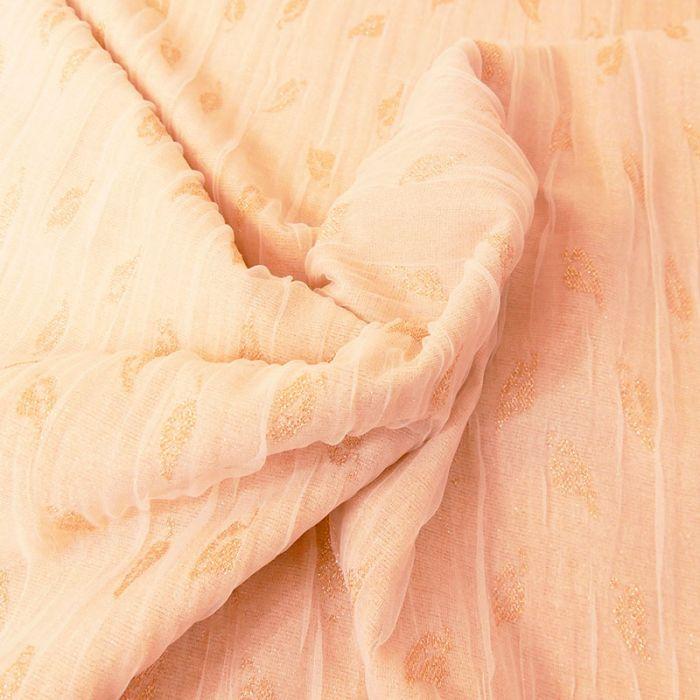 Tissu jersey tulle lurex - nude x 10 cm