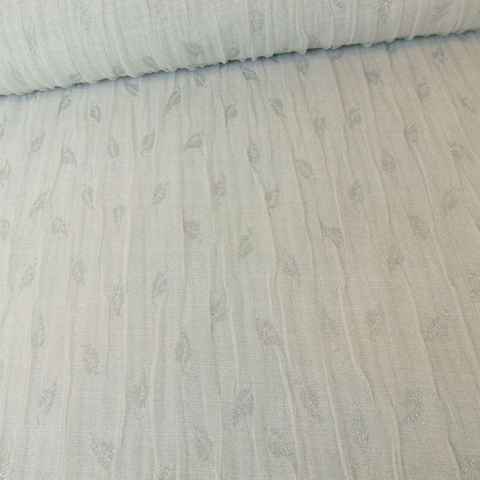 Tissu jersey tulle lurex - silver x 10 cm