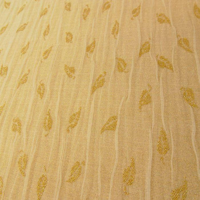 Tissu jersey tulle lurex - gold x 10 cm