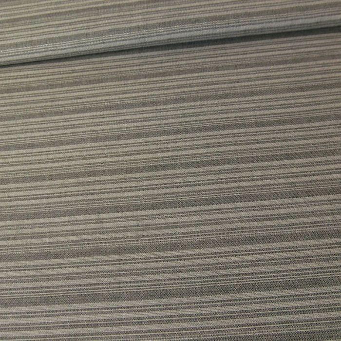Tissu viscose rayures lurex - gris x 10 cm