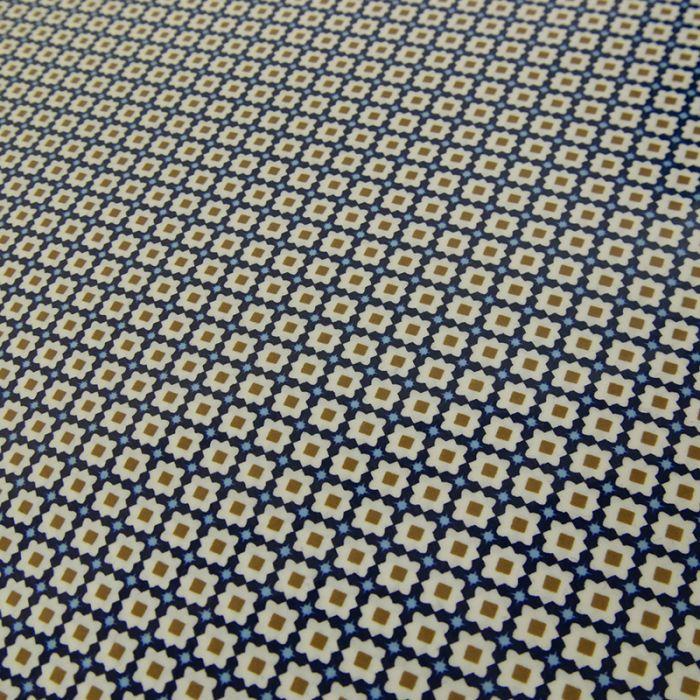 Tissu imperméable bio carrelage orient x 10 cm