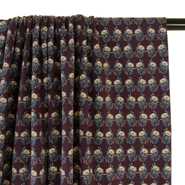 Jersey coton bio fleurs - C. Pauli x 10 cm