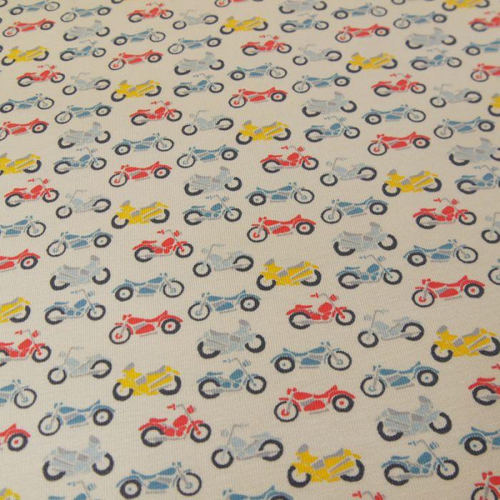 Jersey coton bio motobikes - C. Pauli x 10 cm