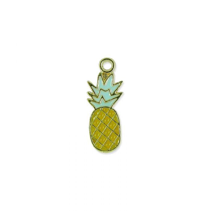 Breloque émaillée petit ananas x1