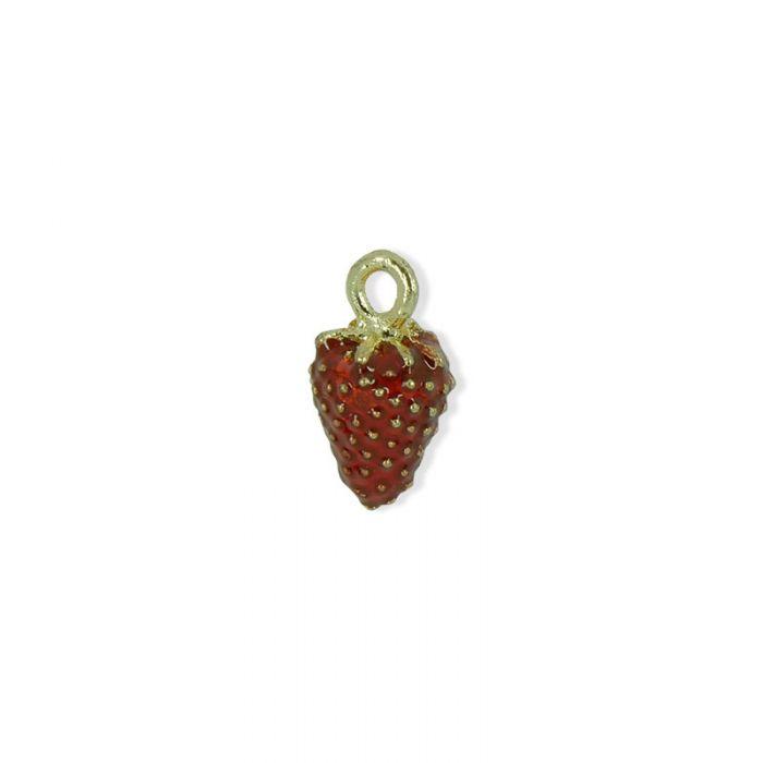 Pendentif émaillé fraise x1