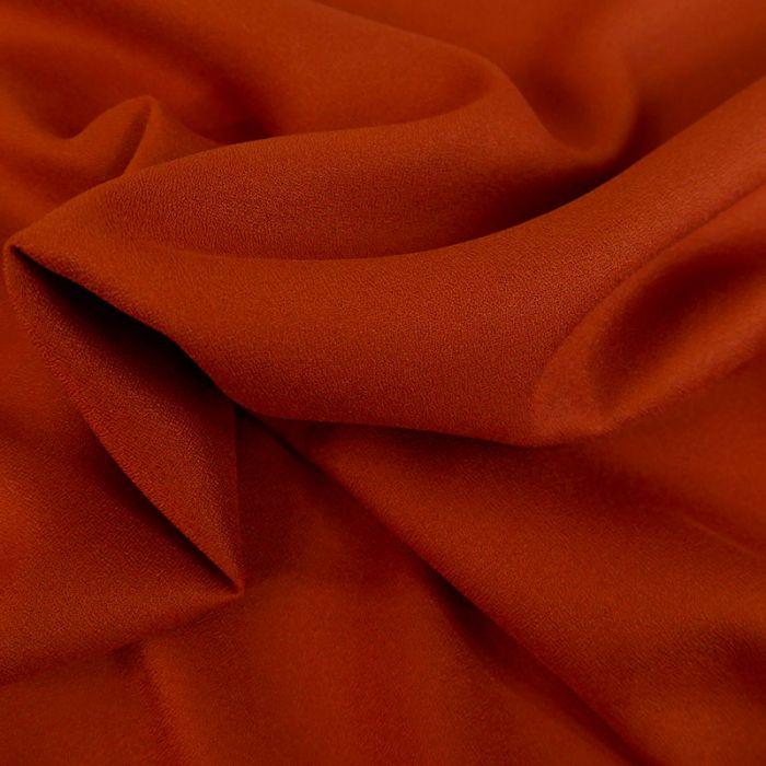 Tissu Crêpe viscose haute couture - rouille x 10 cm