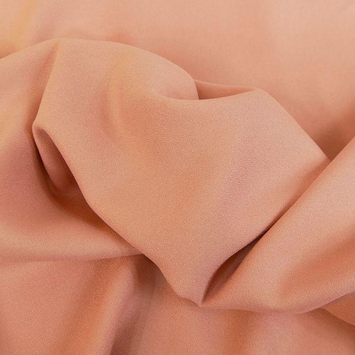 Tissu Crêpe viscose haute couture - vieux rose x 10 cm