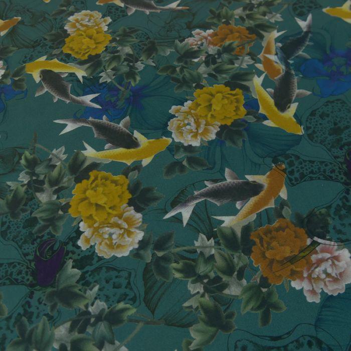 Tissu popeline bio ocean - C. Pauli x 10 cm