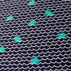 Tissu maillot de bain baleine - bleu x 10 cm