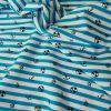 Tissu maillot de bain rayures - bleu x 10 cm