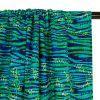 Tissu maillot de bain tigre - turquoise x 10 cm