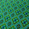 Tissu maillot de bain losanges - vert x 10 cm