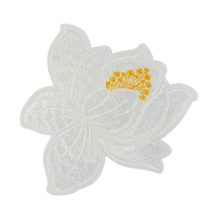 Ecusson thermocollant fleur de lotus