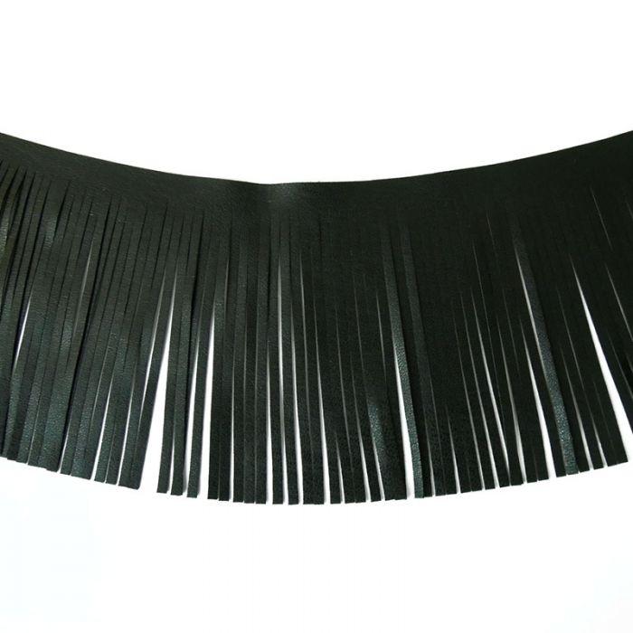 Galon franges simili-cuir 10 cm x 10 cm
