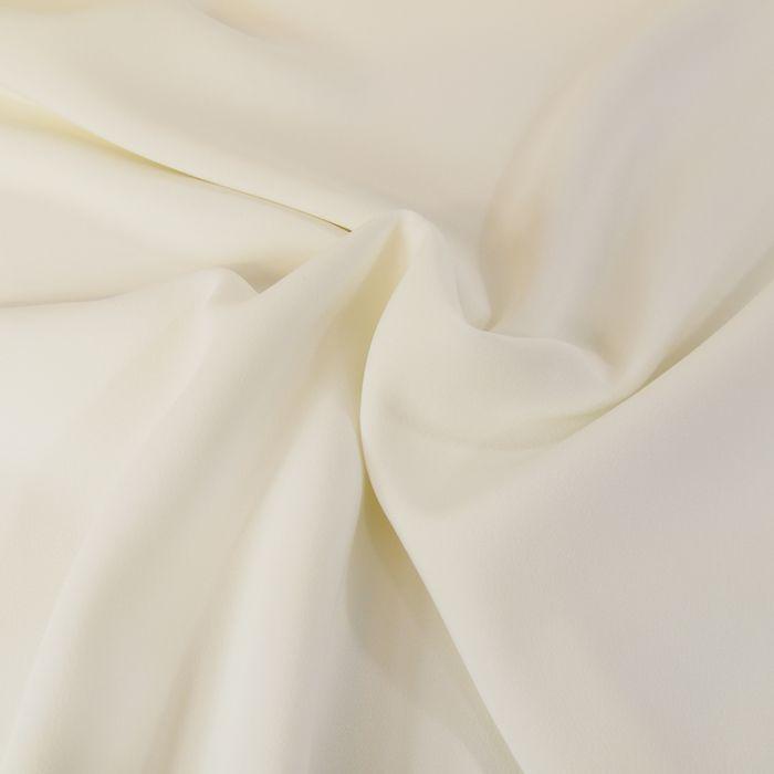 Tissu crêpe légère stretch - écru x 10 cm