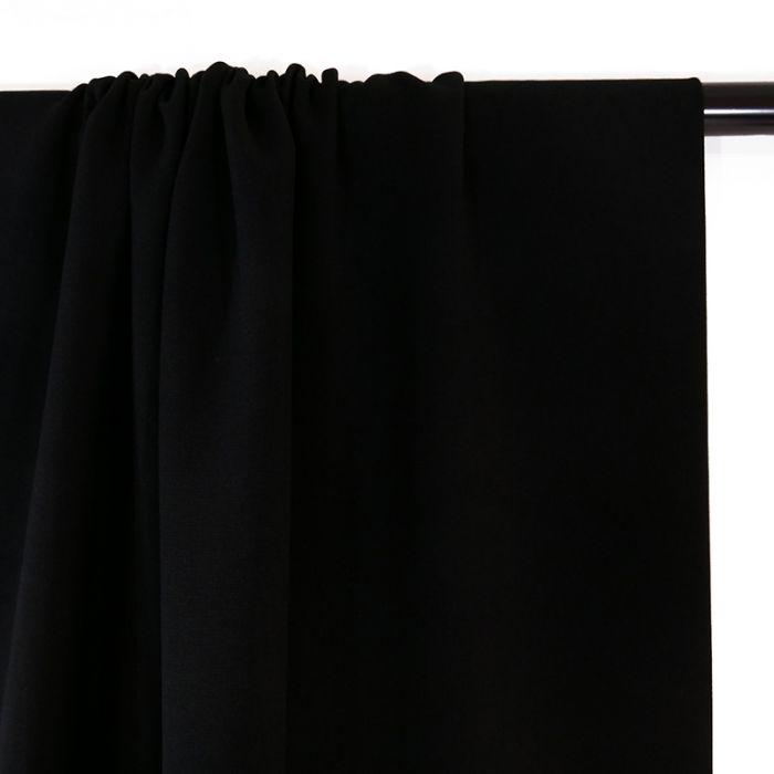 Tissu crêpe légère stretch - noir x 10 cm