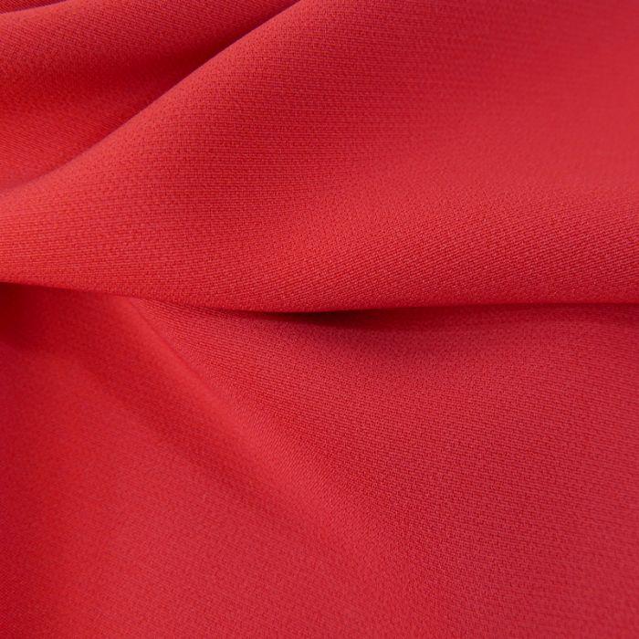 Tissu crêpe légère stretch - rouge x 10 cm