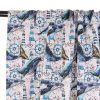 Tissu sweat léger baleines - bleu x 10 cm