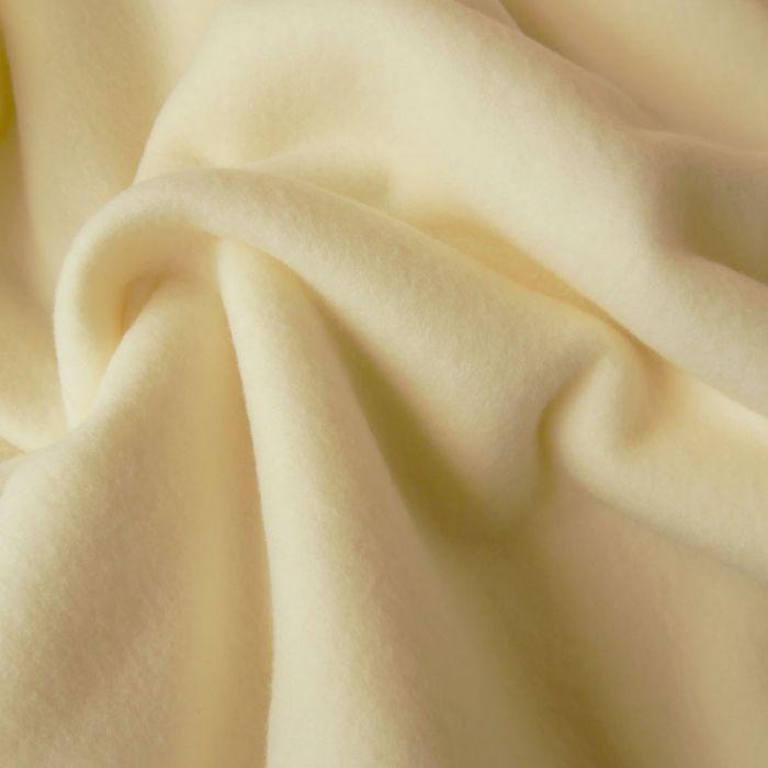 Tissu polaire - écru x 10 cm