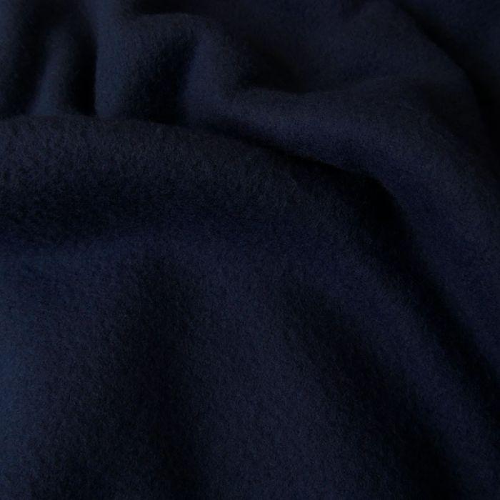 Tissu polaire - marine x 10 cm