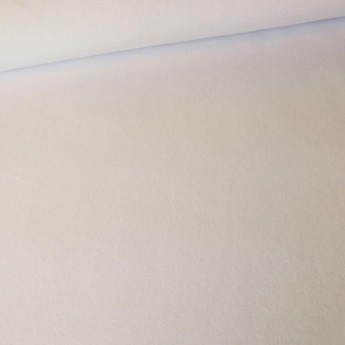 Tissu polaire - blanc x 10 cm
