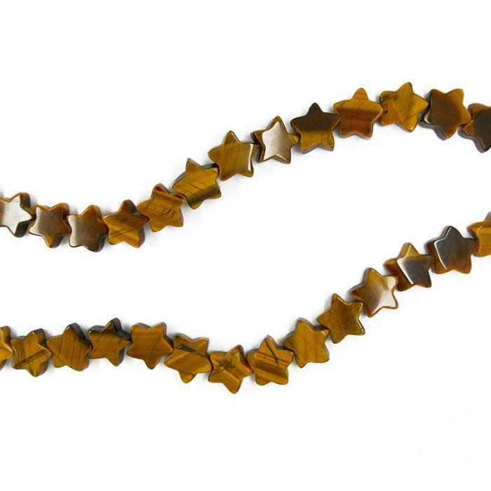 Perle étoile oeil de tigre 13 mm x1