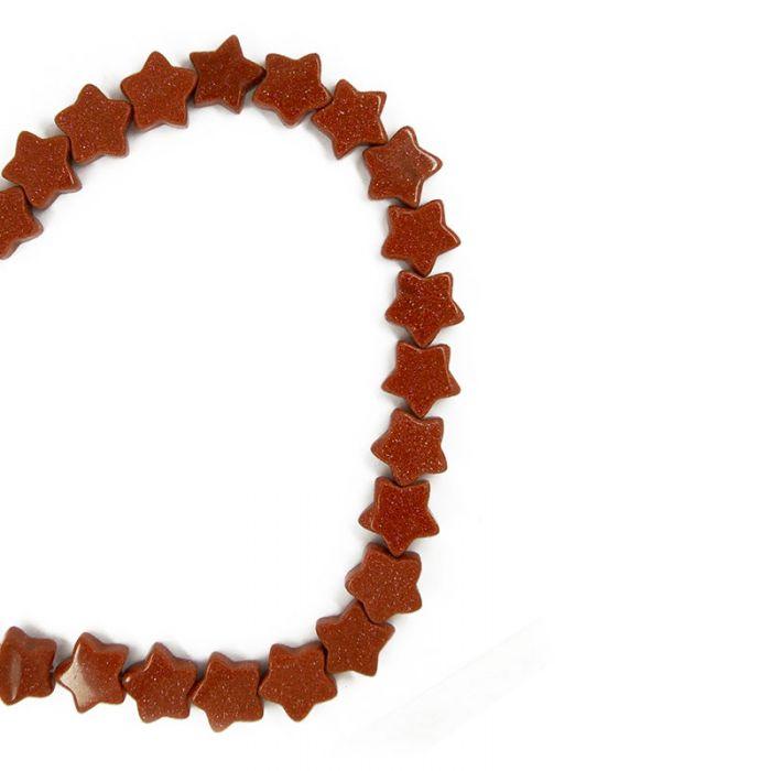 Perle étoile goldstone 13 mm x1