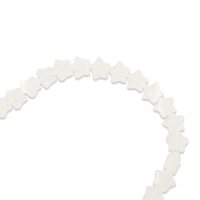Perle étoile quartz 13 mm x1