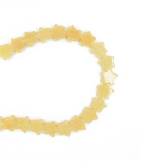 Perle étoile agate teintée 13 mm x1