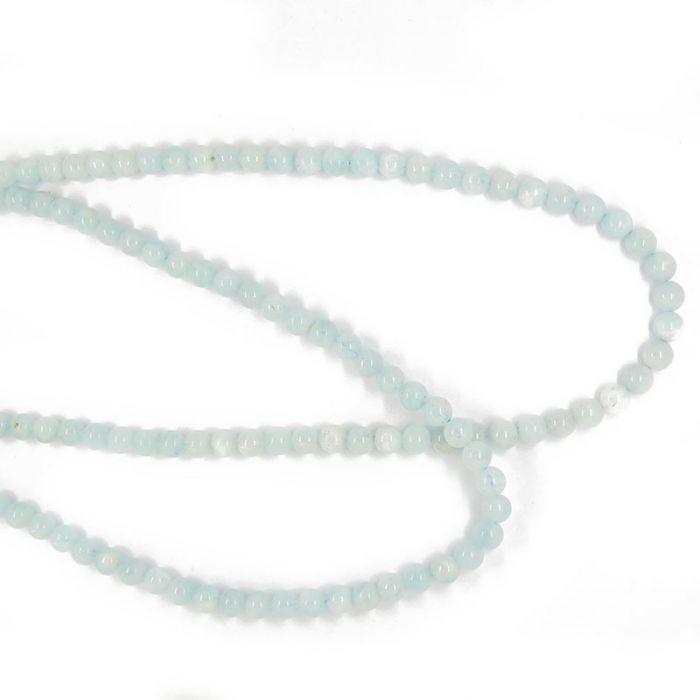 Perle aquamarine ronde 6 à 10 mm x1