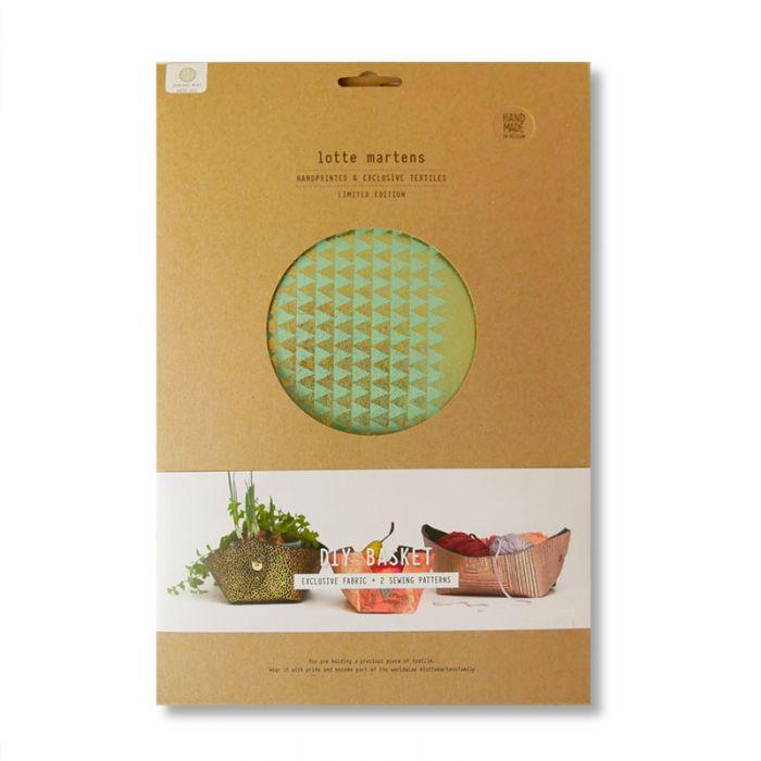 Panière DIY Lotte Martens géométrique - mint Gold