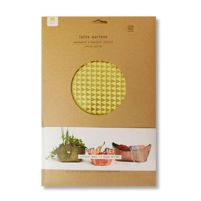 Corbeille DIY Lotte Martens géométrique - jaune Gold