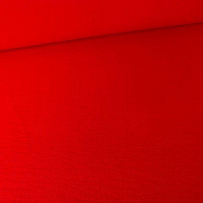 Tissu viscose texturé - rouge x 10 cm