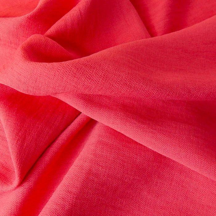 Tissu crêpe viscose gaufré - rose x 10 cm