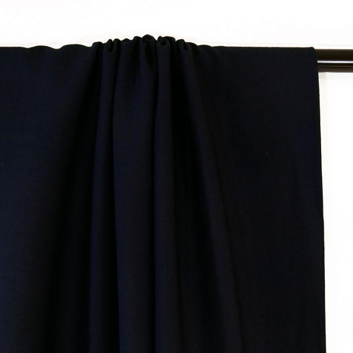 Tissu crêpe viscose gaufré - marine x 10 cm