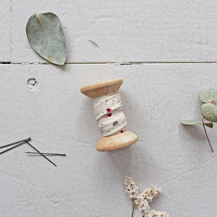Biais terrazzo Shell - Atelier Brunette x 10 cm